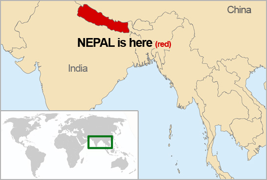 Nepal World Map